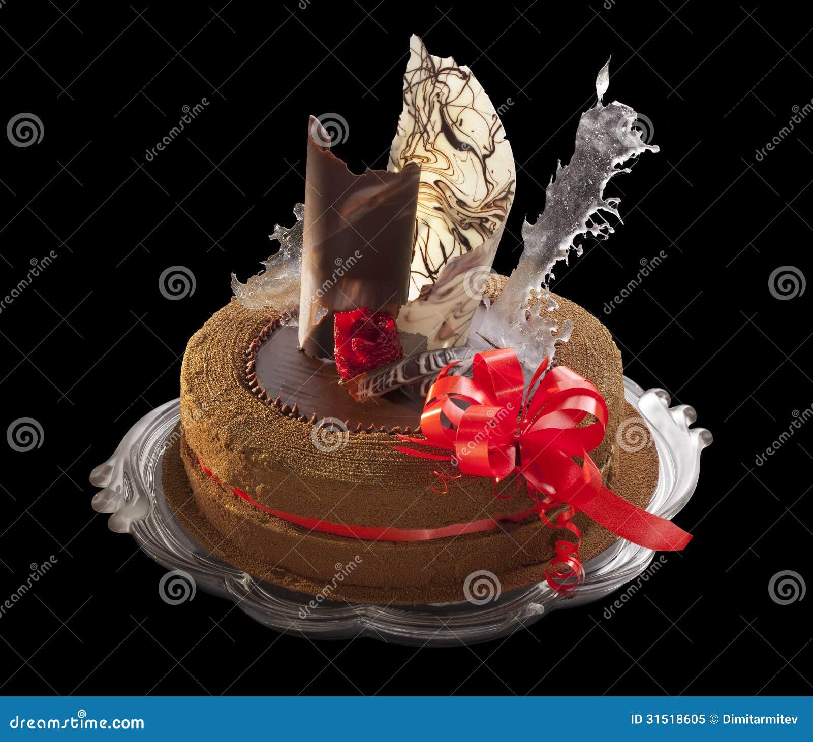 Chocolate Cake With Decoration Stock Image Image 31518605