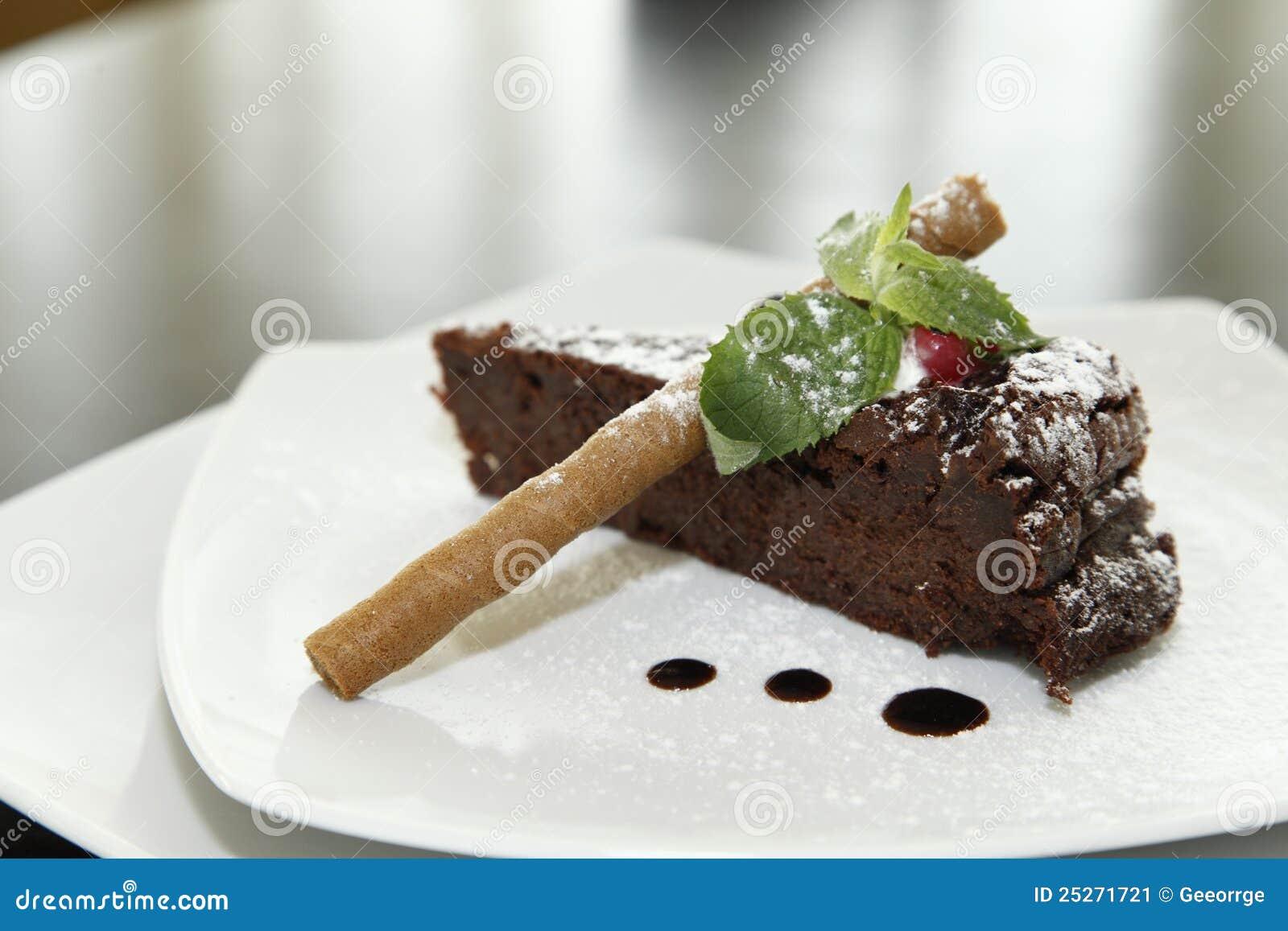 Chocolate Cake Dessert Stock Image - Image: 25271721