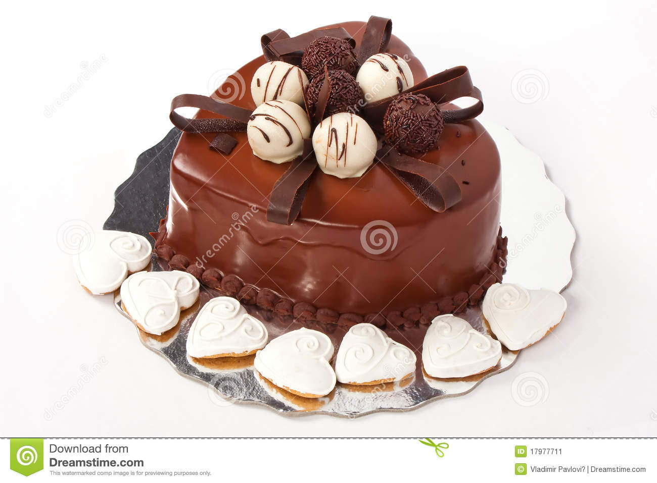 Heart Shaped Cake Stock Photos : Chocolate Cake In Heart Shape Stock Image - Image: 17977711