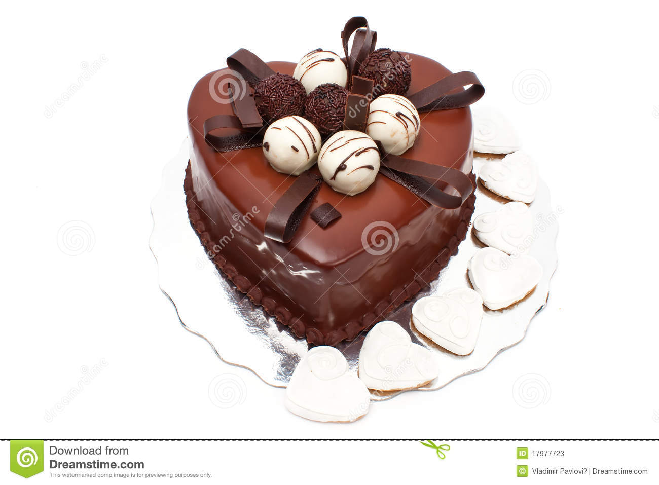 Heart Shaped Cake Stock Photos : Chocolate Cake In Heart Shape Stock Photos - Image: 17977723