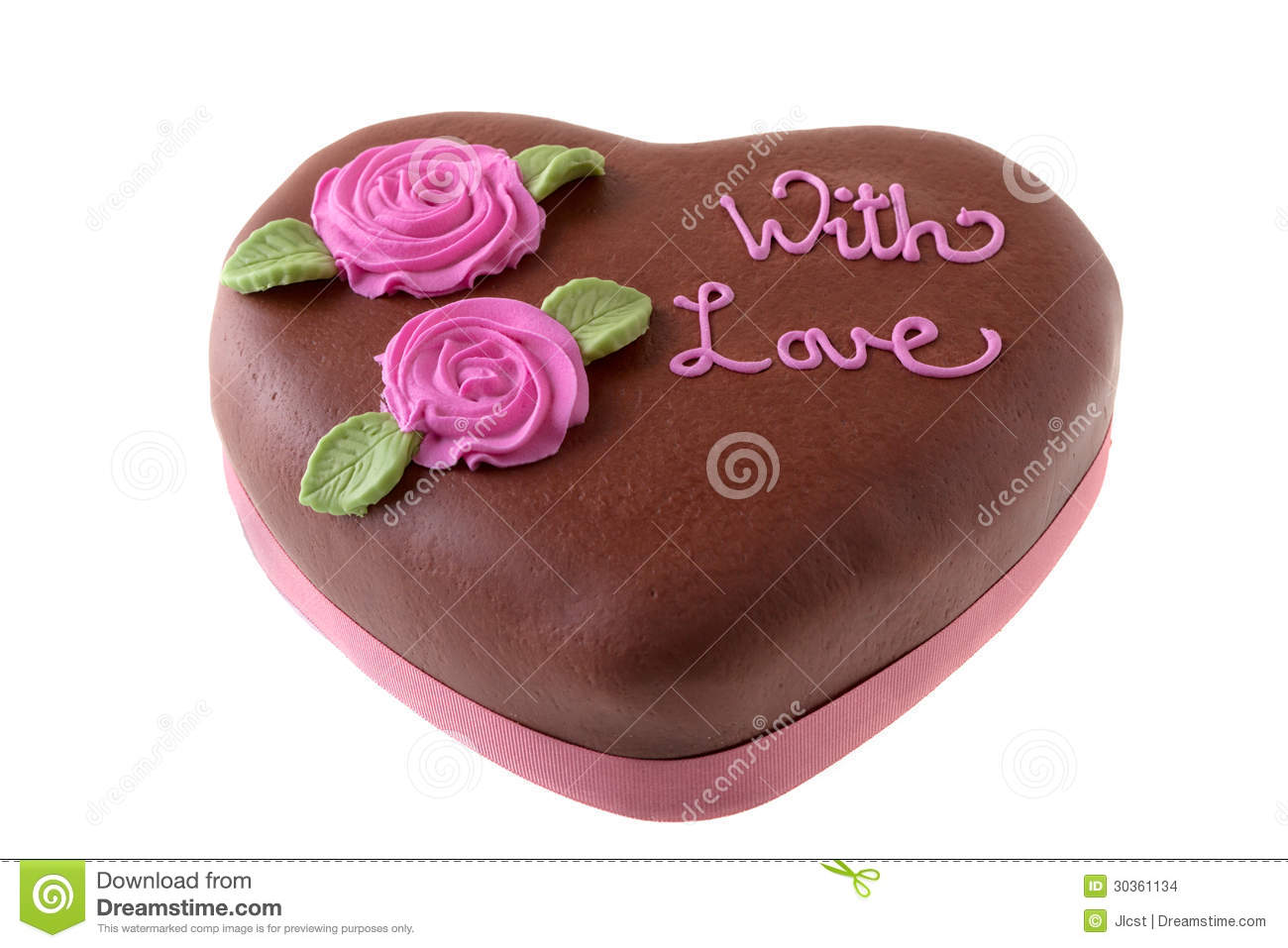 Phenomenal Chocolate Cake Heart Shape With Icing Sugar Flowers Stock Photo Funny Birthday Cards Online Alyptdamsfinfo