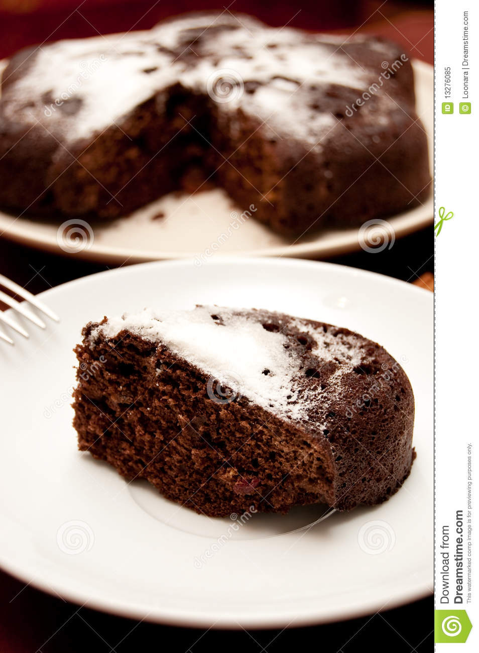 Cake With Icing Sugar : Chocolate Cake With Icing Sugar Royalty Free Stock Photo ...
