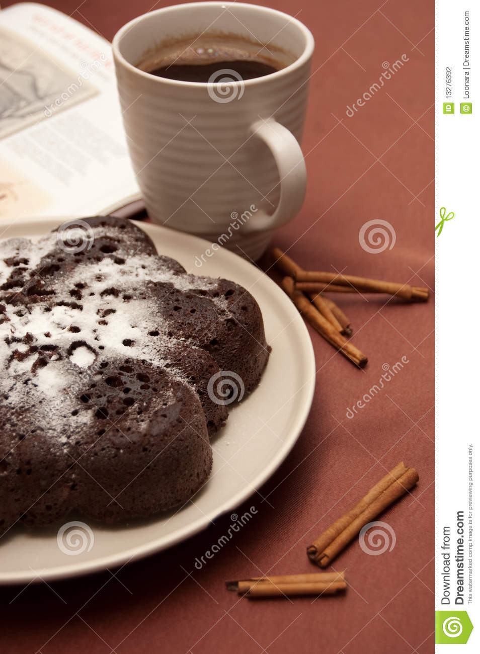 Cake With Icing Sugar : Chocolate Cake With Icing Sugar Stock Photography - Image ...