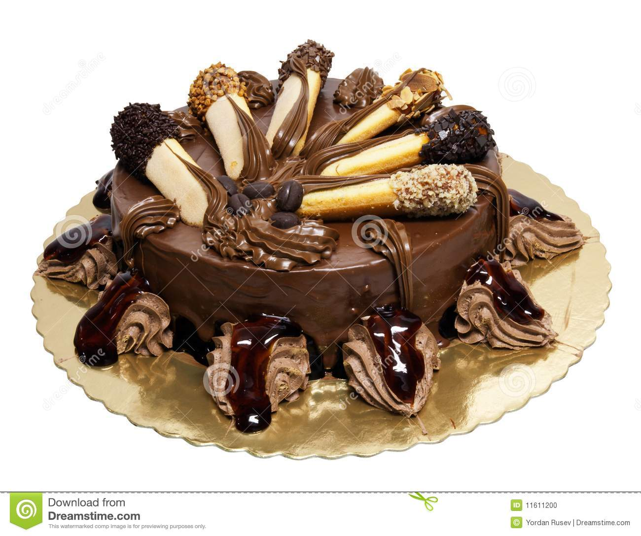 Chocolate Cake With Lady Fingers Stock Photo Image Of