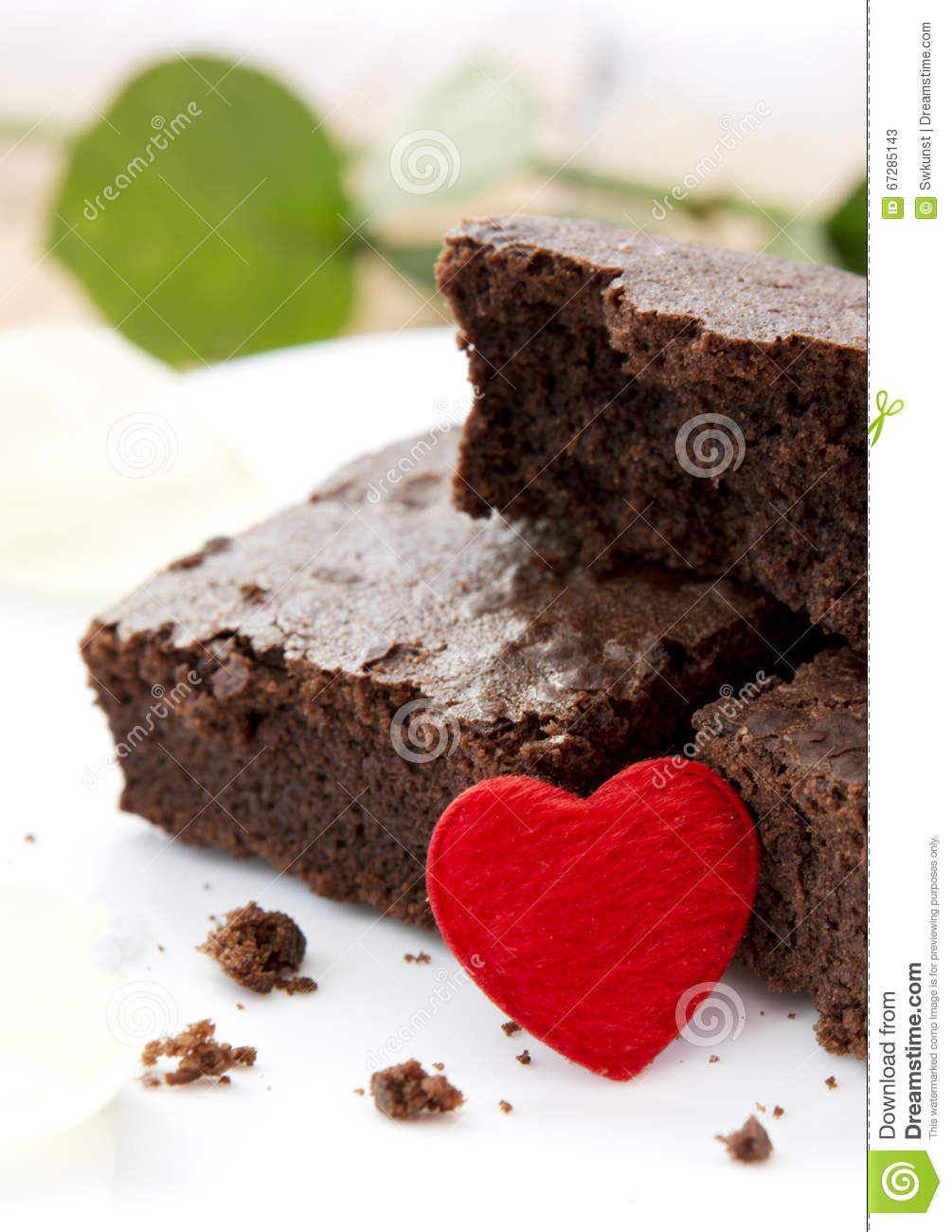 Chocolate Cake With Love Heart Stock Image Image Of Gourmet Gift