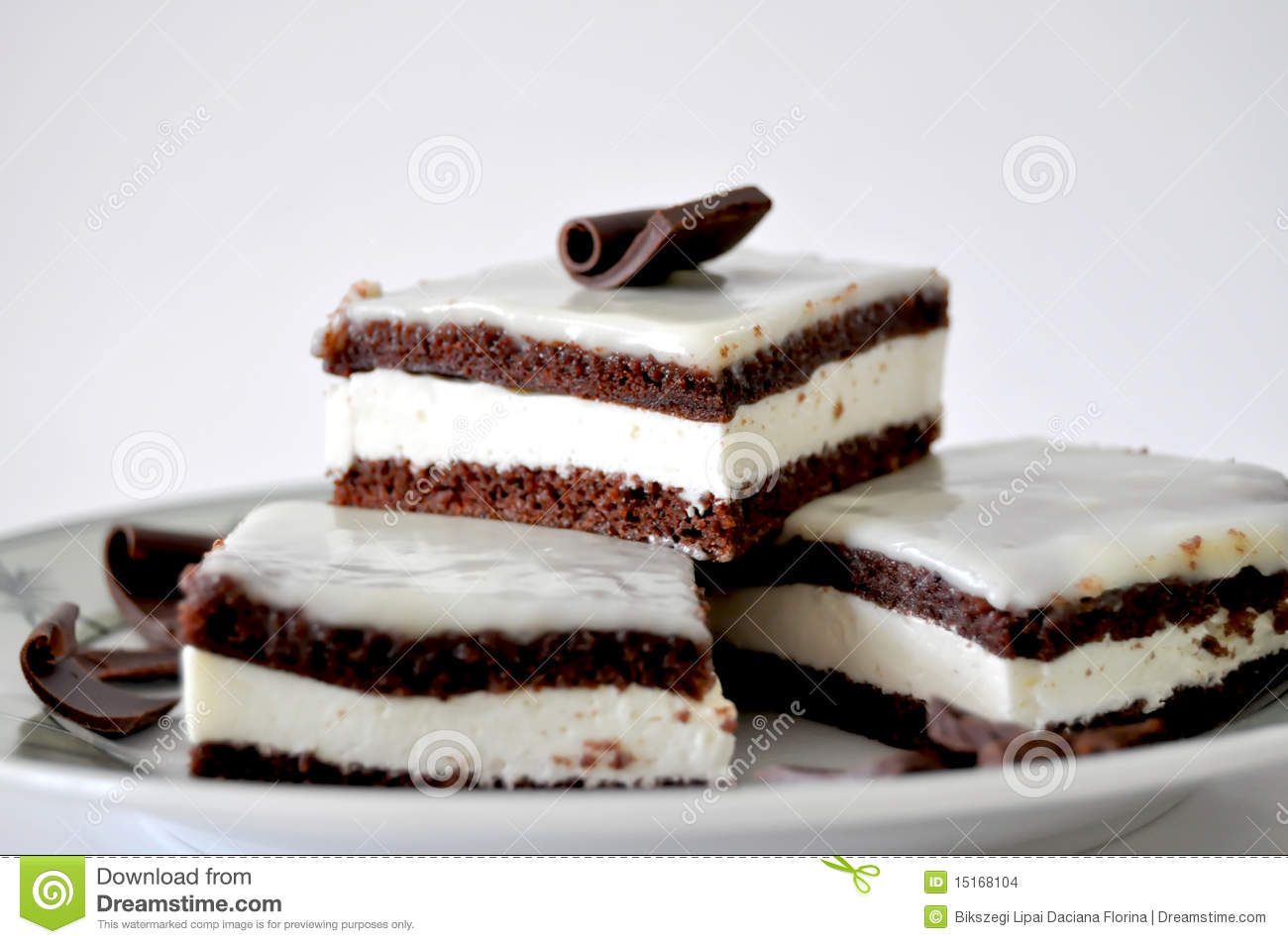 Cake With Chocolate Milk : Chocolate Cake With Milk Cream Stock Images - Image: 15168104
