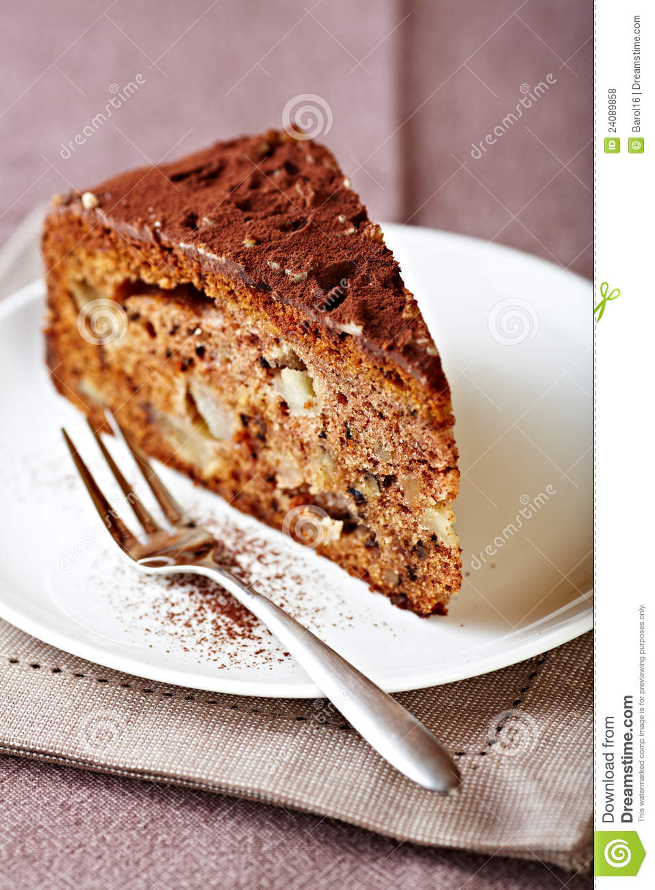 Chocolate Cake With Nuts Royalty Free Stock Photos - Image: 24089858