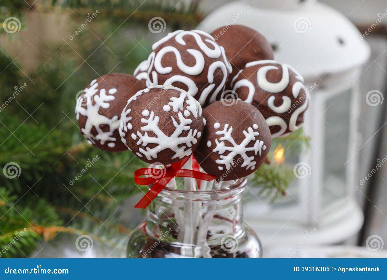 Festive Ornament Cake Pops