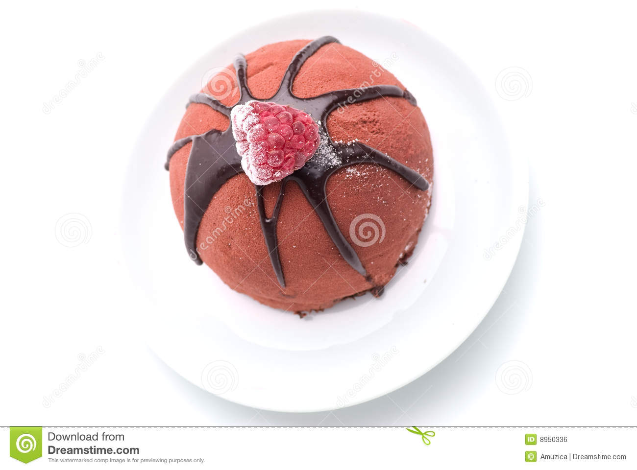 Chocolate Cake With Raspberry Topping Royalty Free Stock Image - Image ...