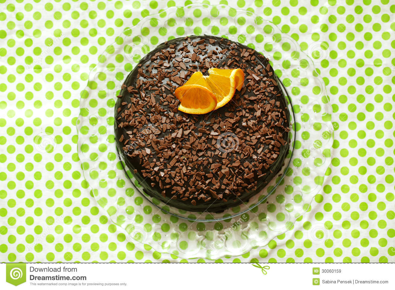 Chocolate Cake Rich With Ganache And Orange Peel, Top Shot Royalty ...