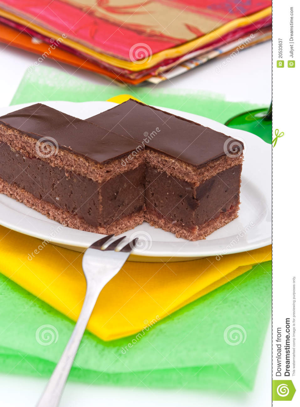 Chocolate Cake With Rum Royalty Free Stock Photography ...