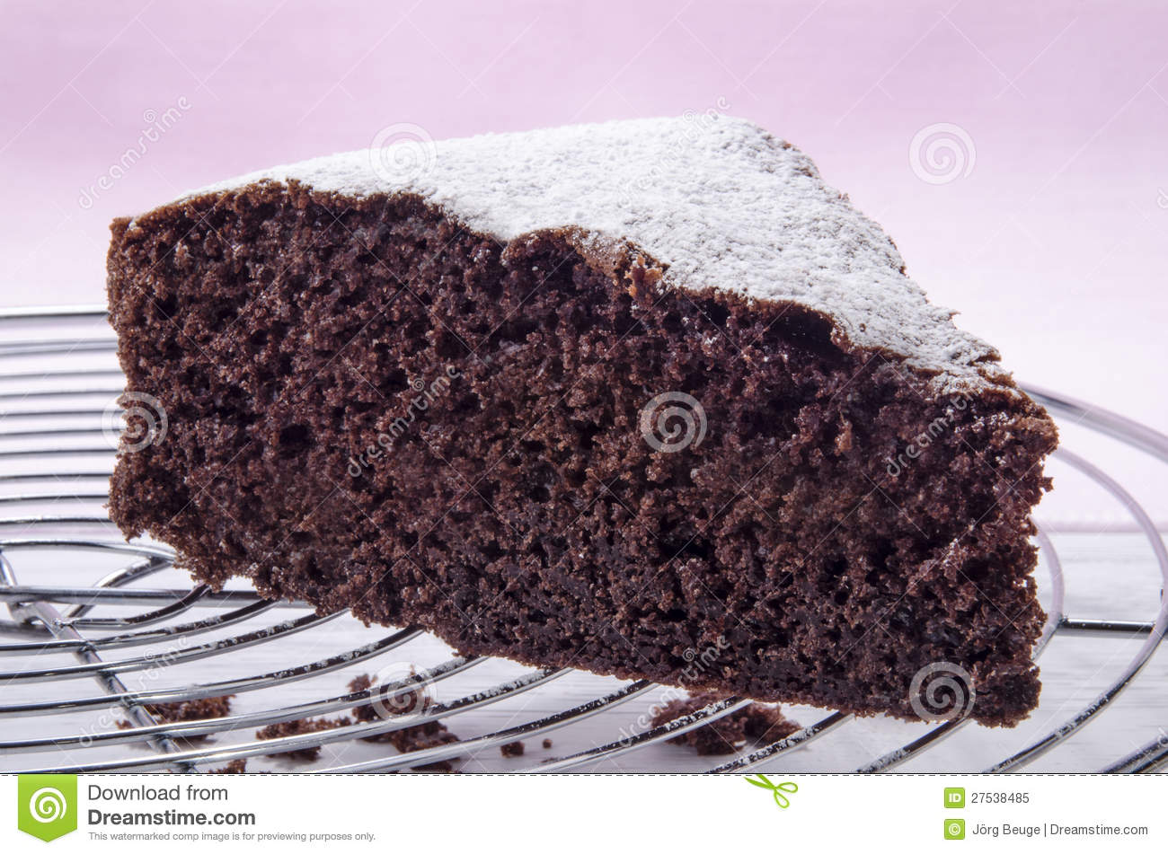 Cake With Icing Sugar : Chocolate Cake Sprinkled With Icing Sugar Royalty Free ...