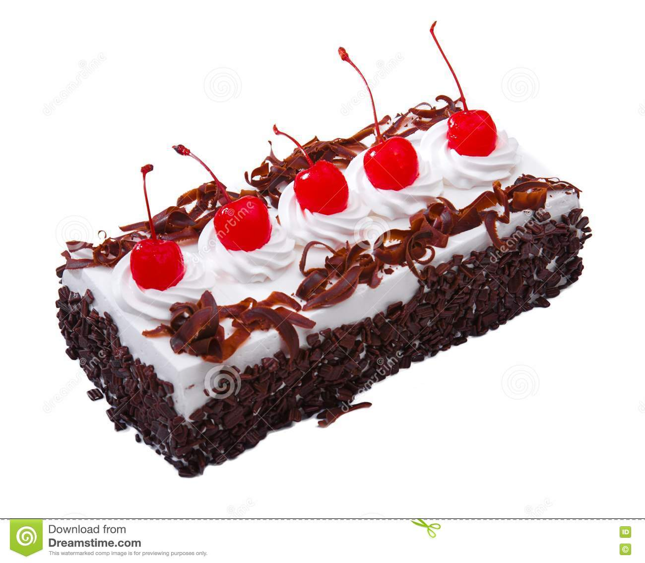Chocolate Cake Topping With Cherry Royalty Free Stock ...