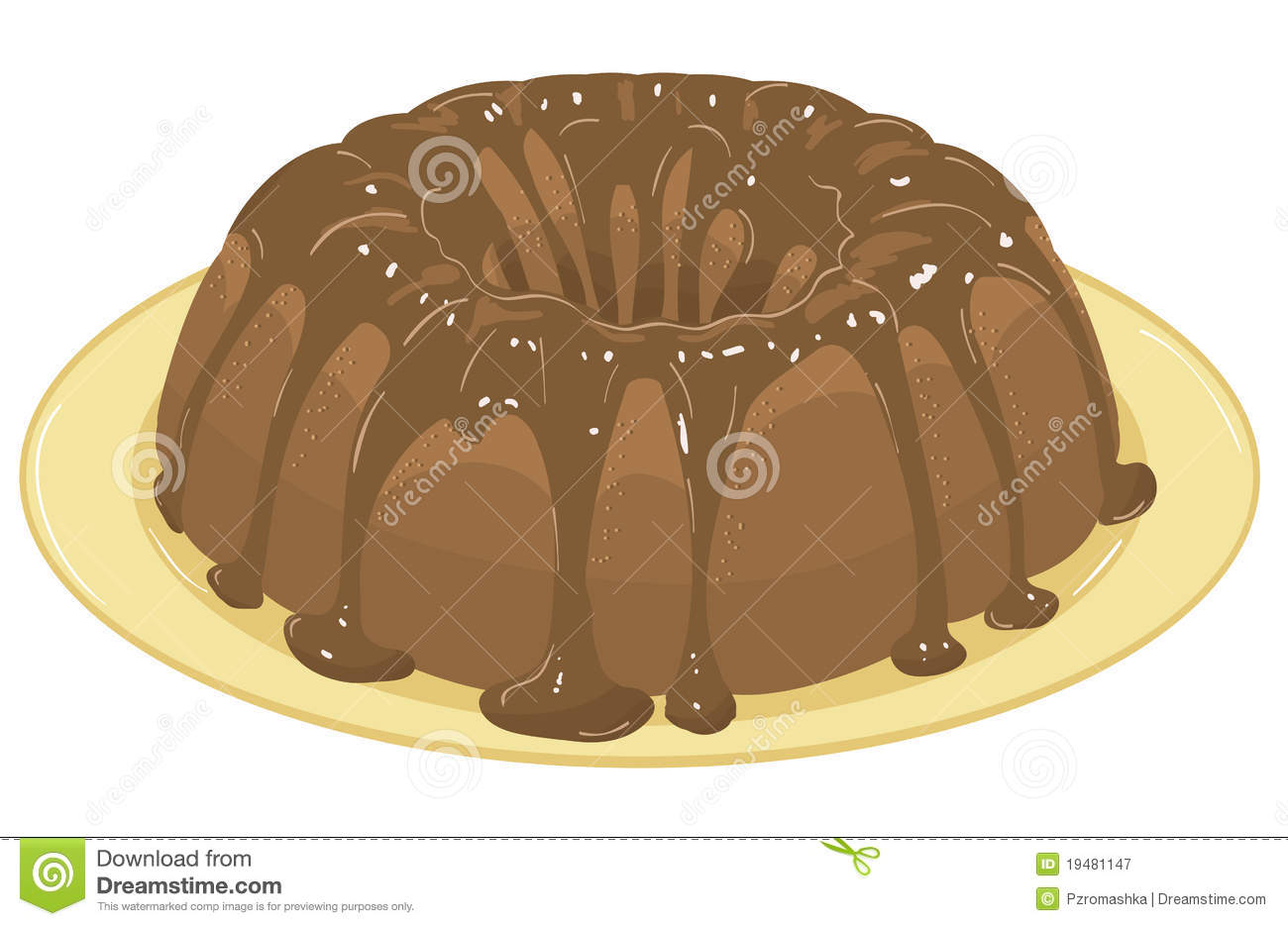 Cake With Icing Vector : Chocolate Cake. Vector Illustration Royalty Free Stock ...