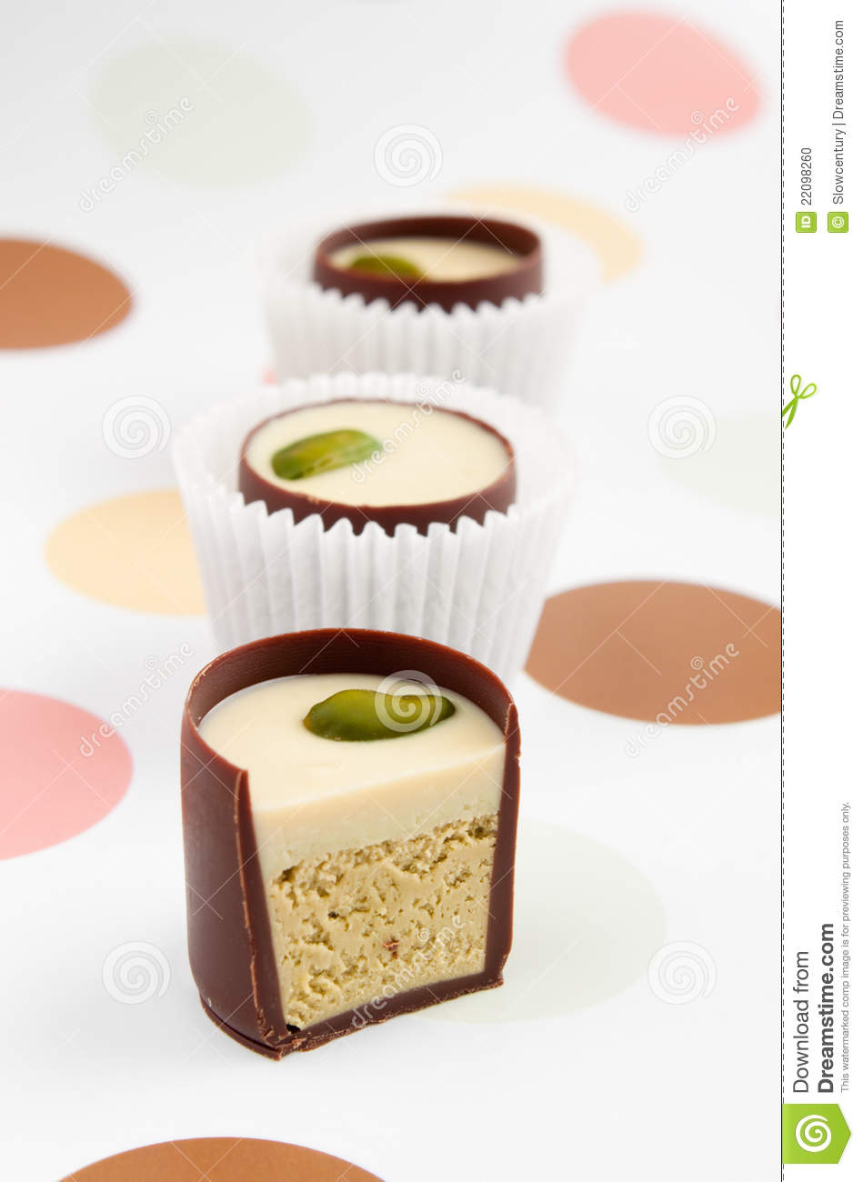 Chocolate Candies With Filling Stock Photo Image 22098260