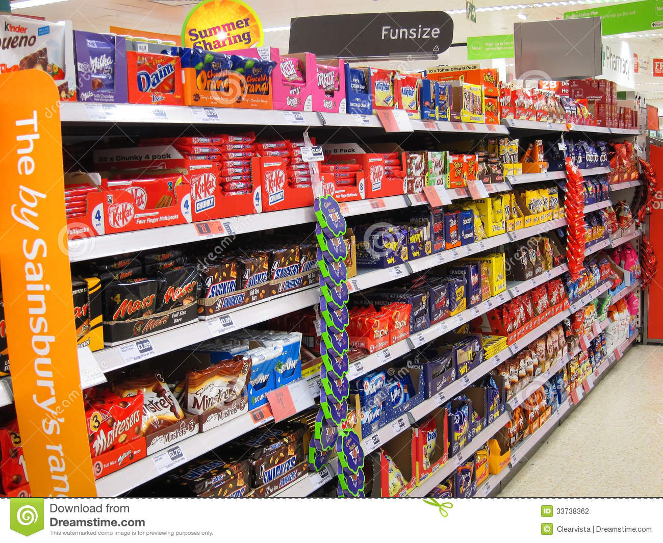 Chocolate Or Candy Bars In A Superstore Editorial
