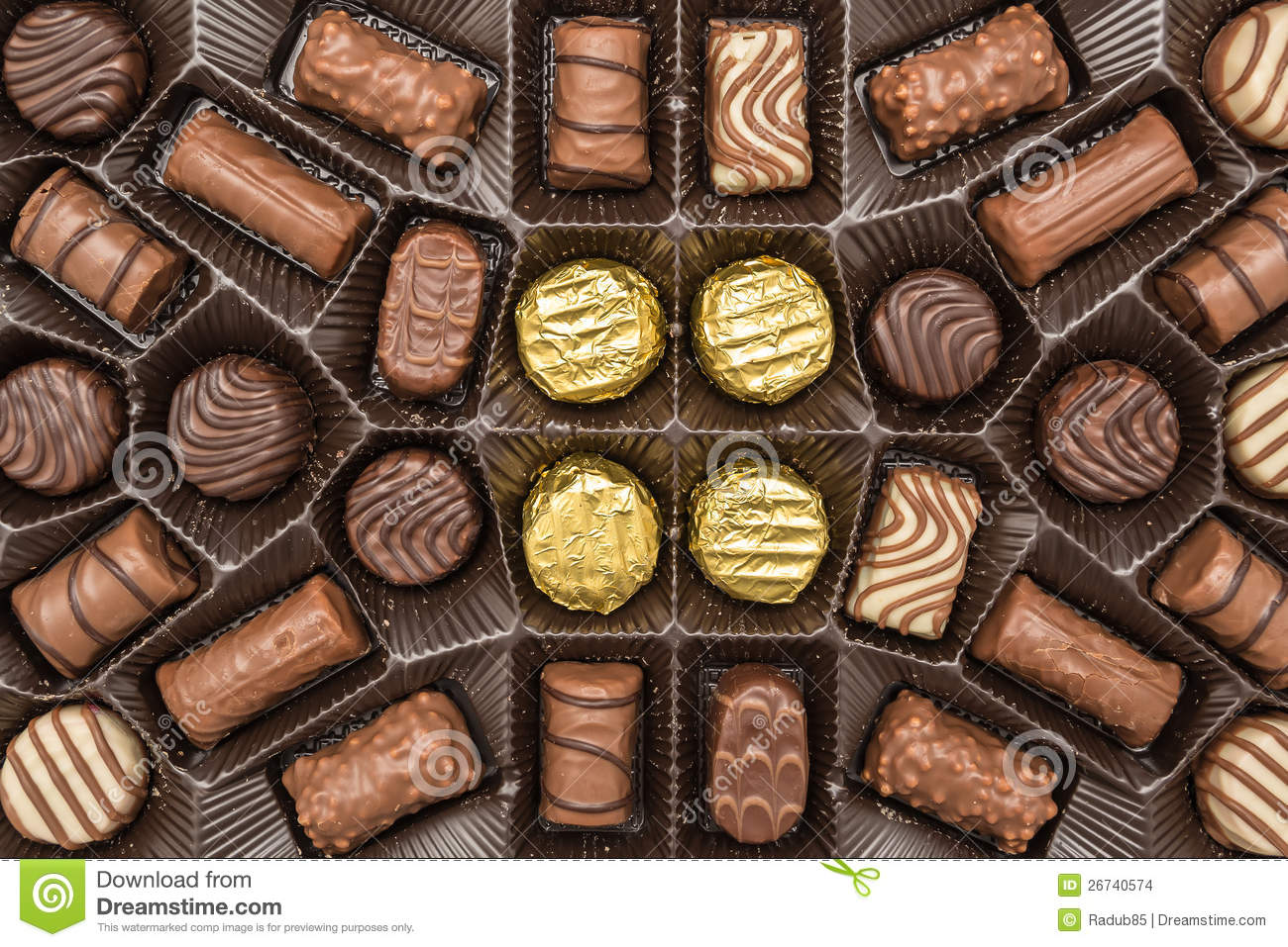 Chocolate Candy Box Stock Images - Image: 26740574