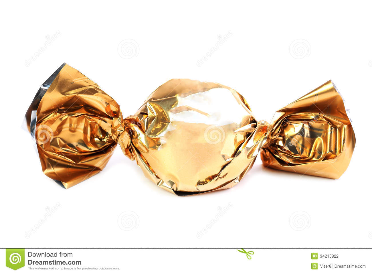 Chocolate Candies In Gold Wrappers