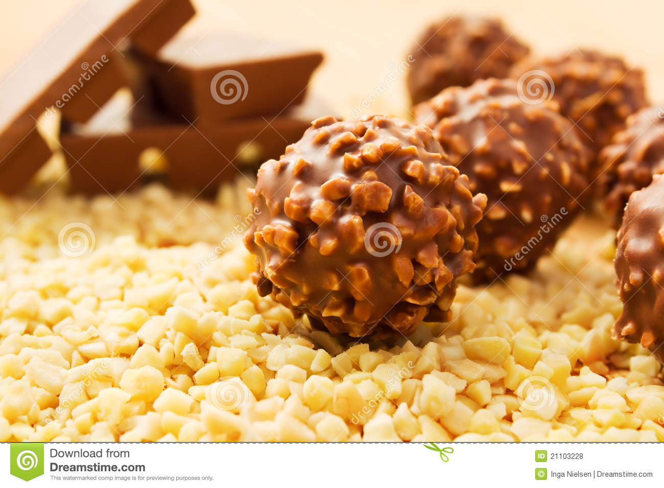 Chocolate Candy With Nuts Royalty Free Stock Photos - Image: 21103228