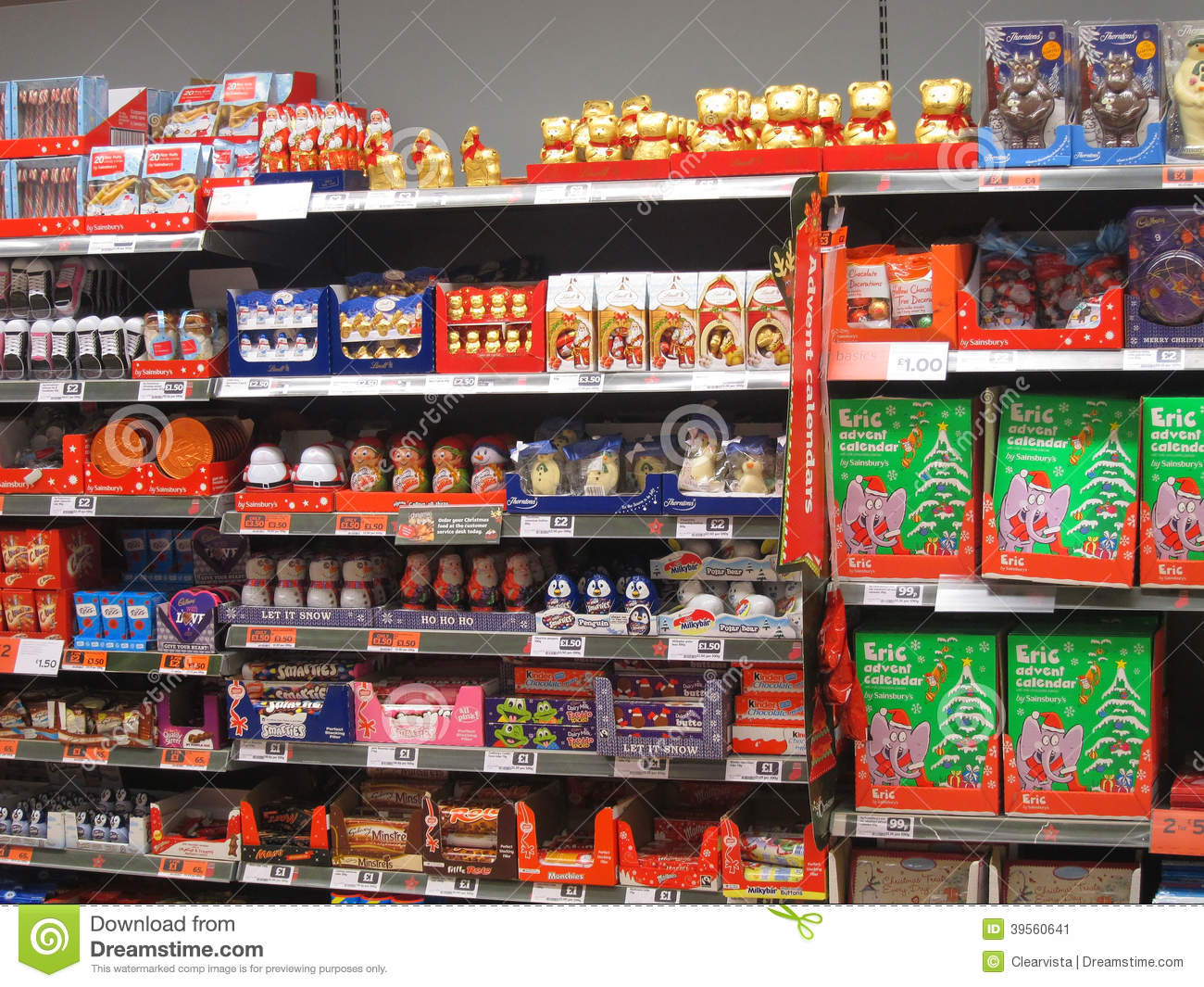 Chocolate Or Candy On A Store Shelf. Editorial Photo - Image: 39560641