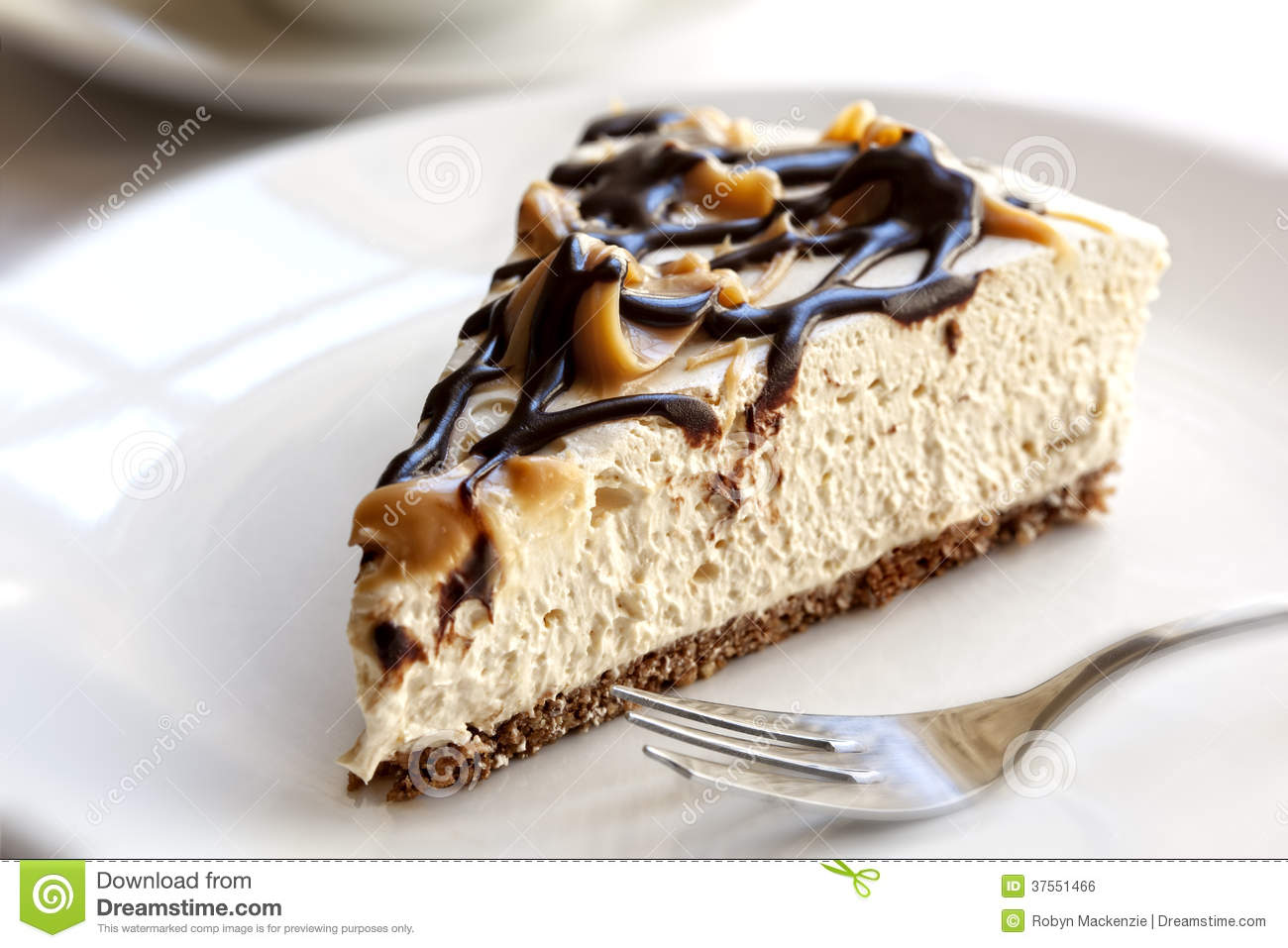 Chocolate Caramel Cheesecake Royalty Free Stock Image - Image ...