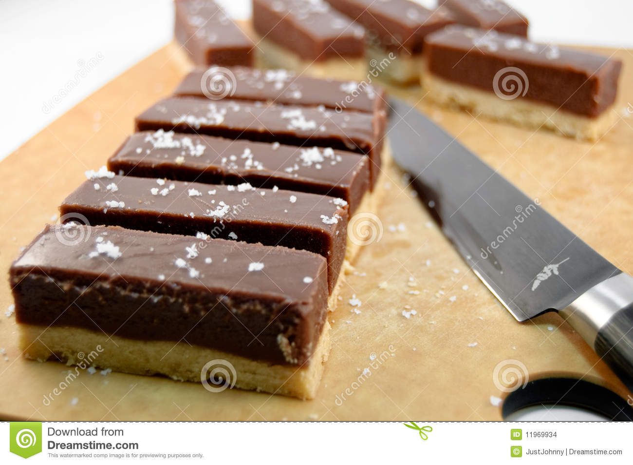 Chocolate-Caramel Cookie Bars Stock Images - Image: 11969934