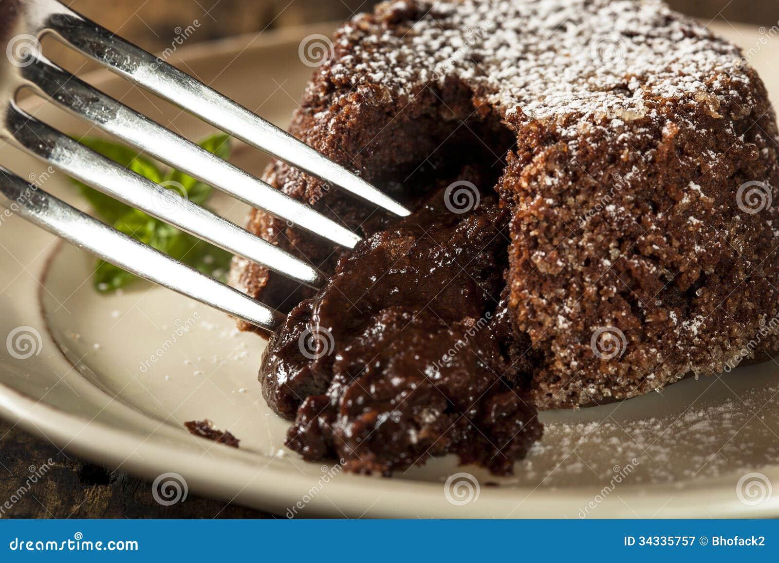 Chocolate caseiro Lava Cake Dessert