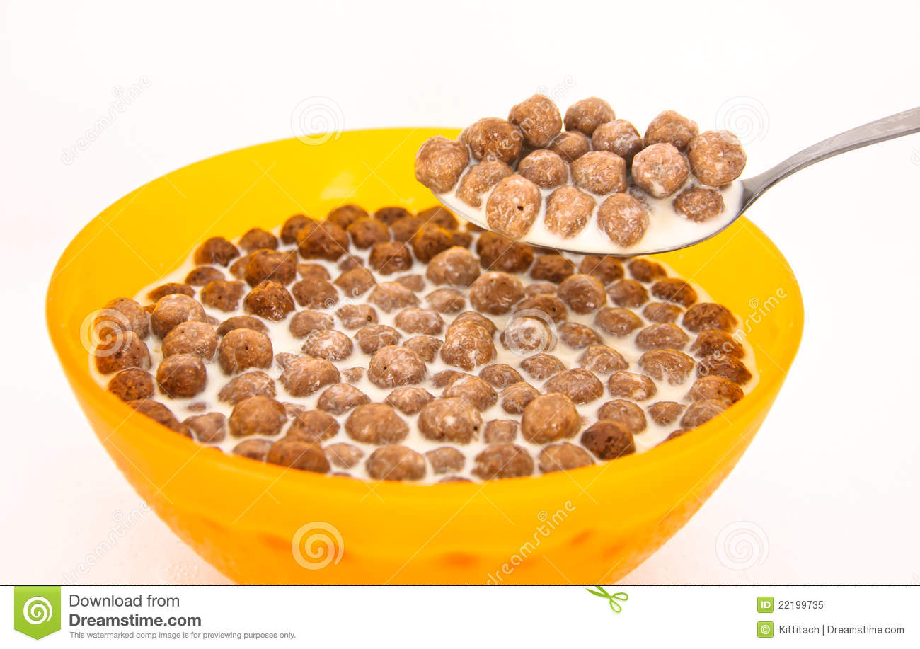 Chocolate Cereal Royalty Free Stock Photo - Image: 22199735