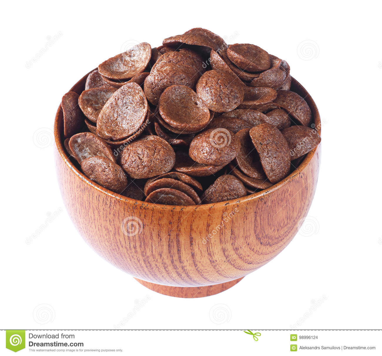 Chocolate Cereals In Bowl Stock Photo. Image Of Brown