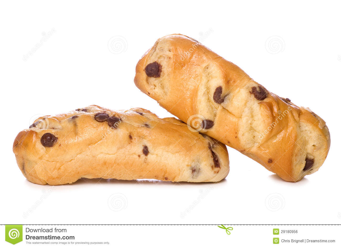 Chocolate Chip Brioche Rolls Royalty Free Stock Image - Image ...