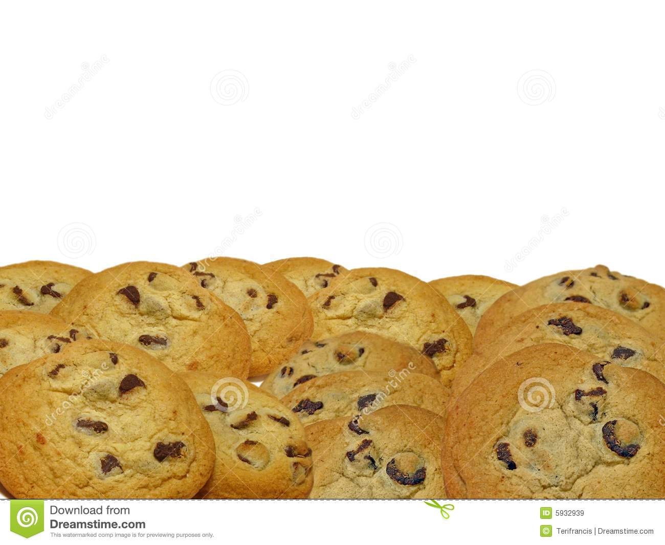 Chocolate chip cookie border clip art chocolate chip cookie border