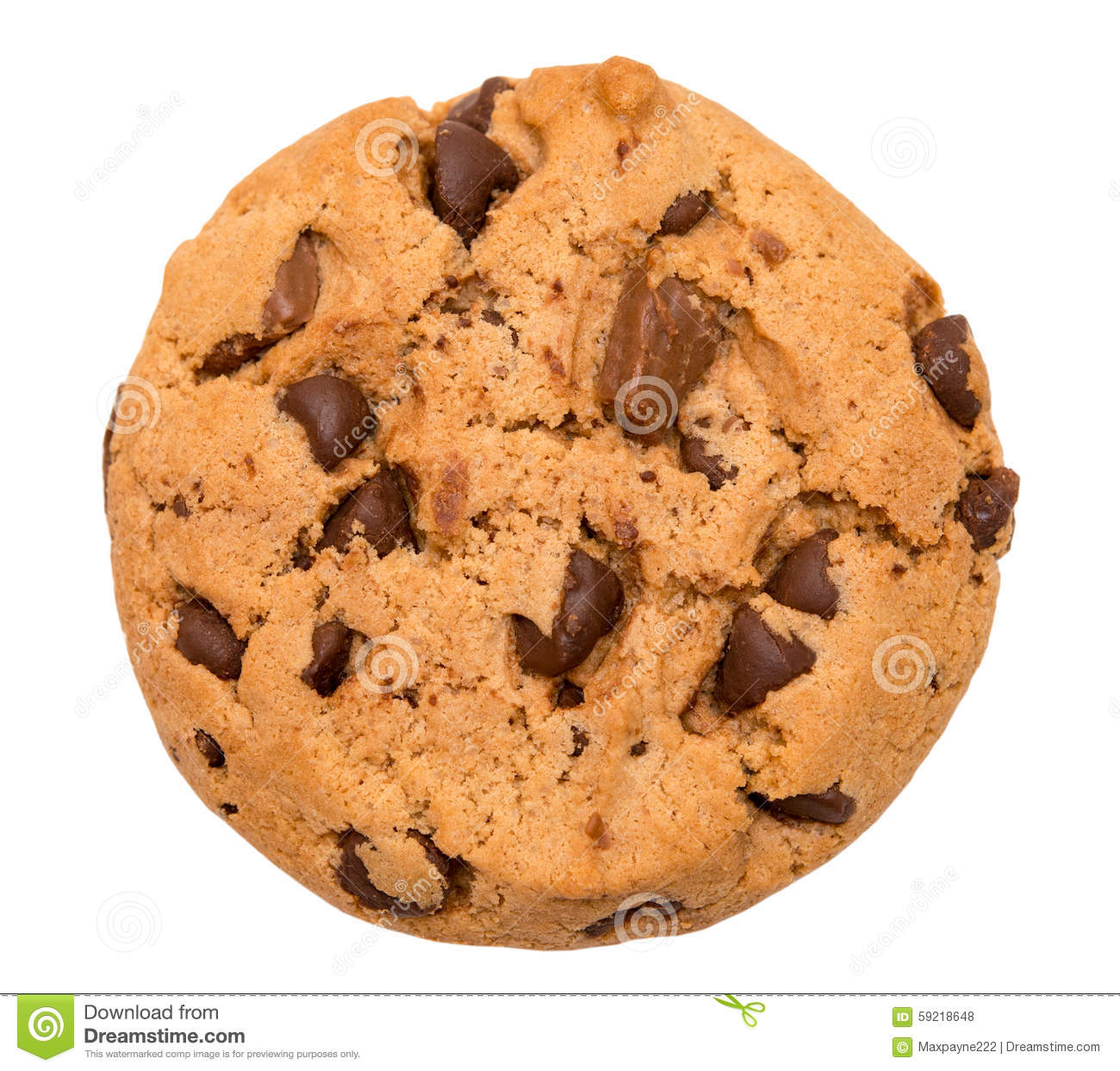 Chocolate Chip Cookie No Background