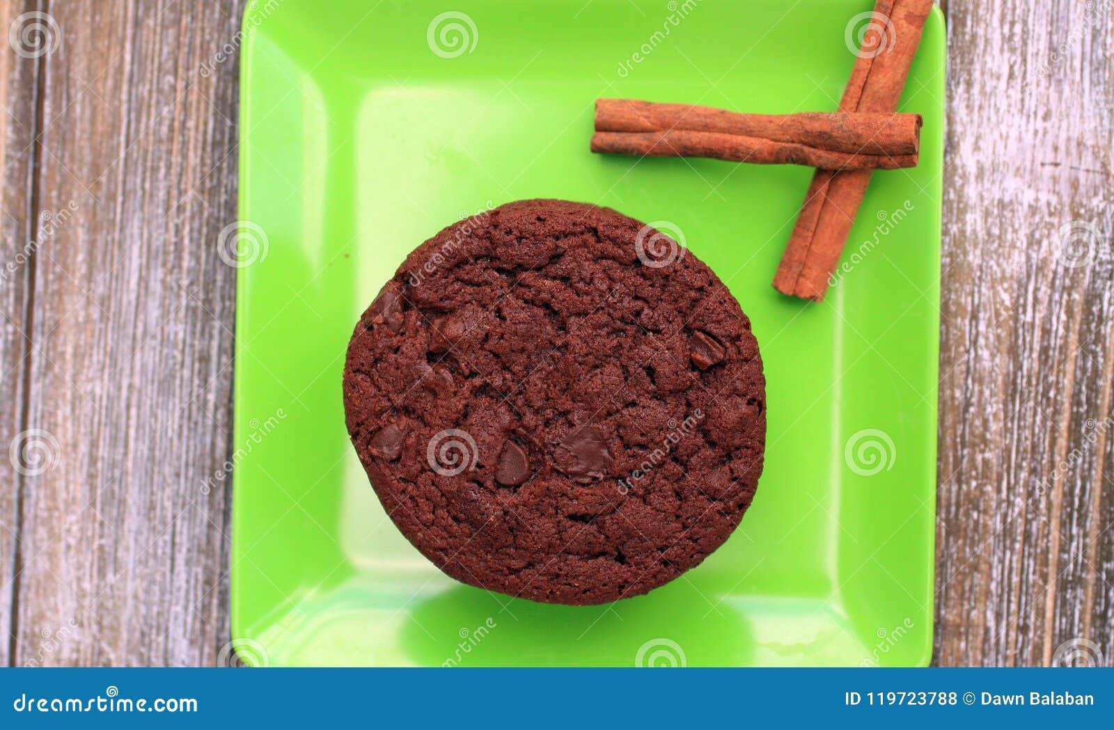 Top View Of Chocolate Chocolate Chip Star Cinnamon Sticks Chocolate