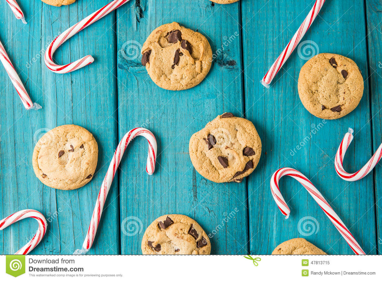 Chocolate Chip Cookies Wood Table