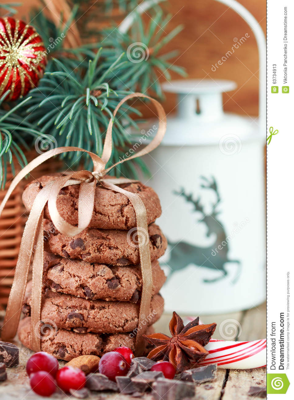 Chocolate Chip Cookies, Cranberry And Chocolate. Christmas Gifts ...