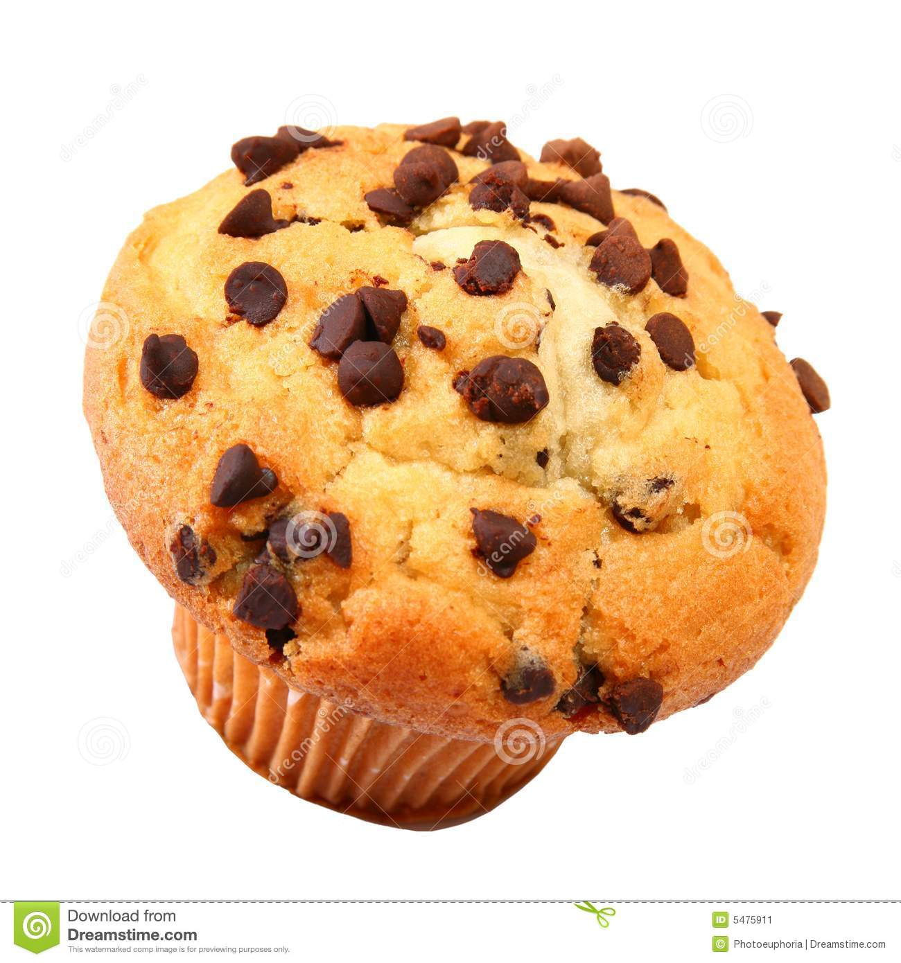Chocolate Chip Muffin Stock Image - Image: 5475911