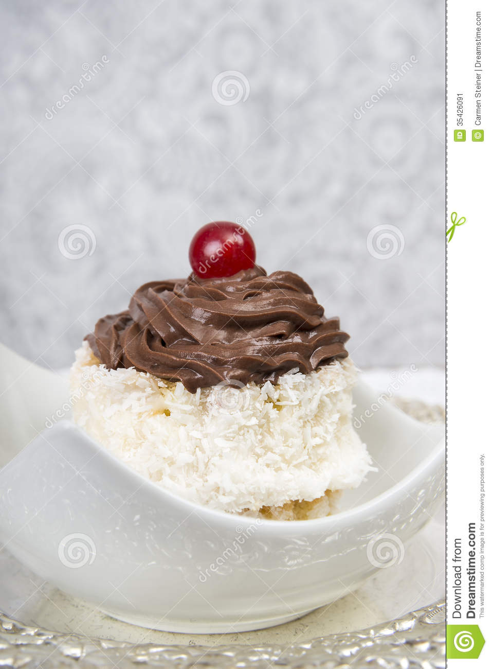 Coconut Chocolate Pudding With Coconut Flakes Recipe — Dishmaps