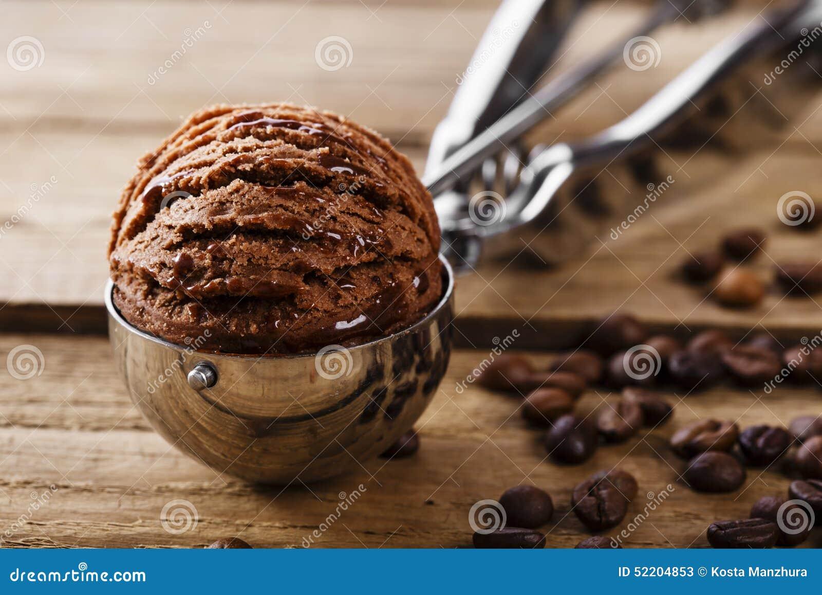 Chocolate Coffee Ice Cream Ball Stock Photo - Image: 52204853