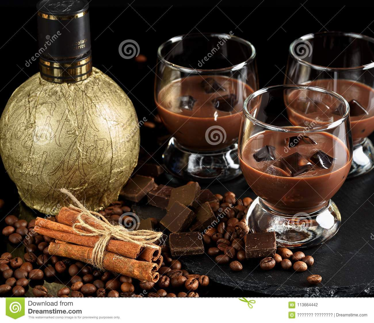 Chocolate, Coffee, Creamy Liqueur, Cocktail With Coffee ...  |Chocolate Coffee Liqueur
