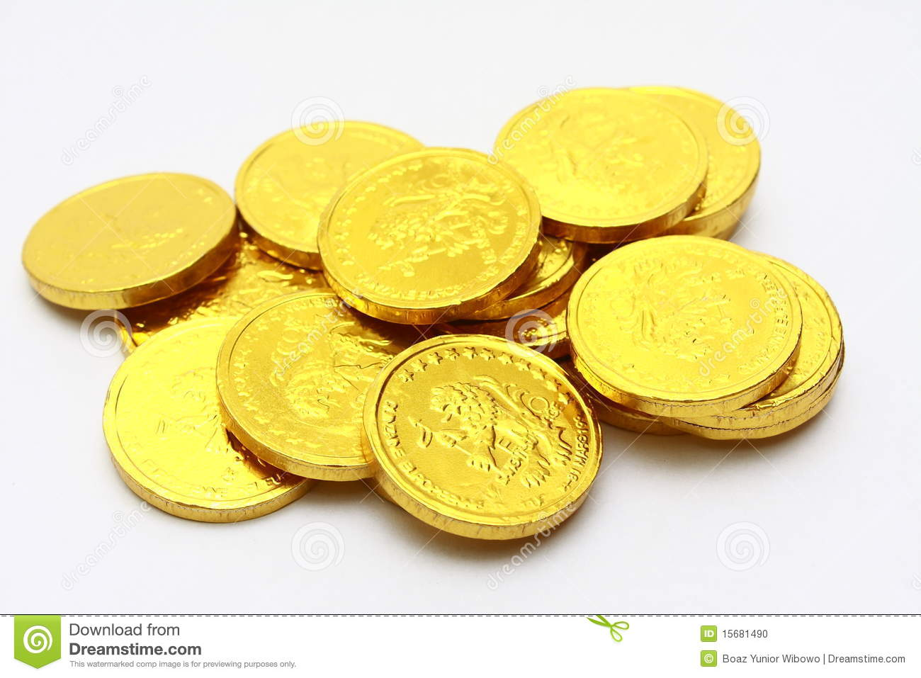 Chocolate Coins Royalty Free Stock Photos - Image: 18322738