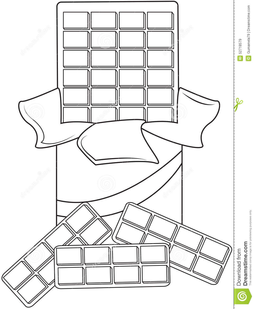 chocolate coloring pages Chocolate coloring page stock illustration. Illustration of  chocolate coloring pages