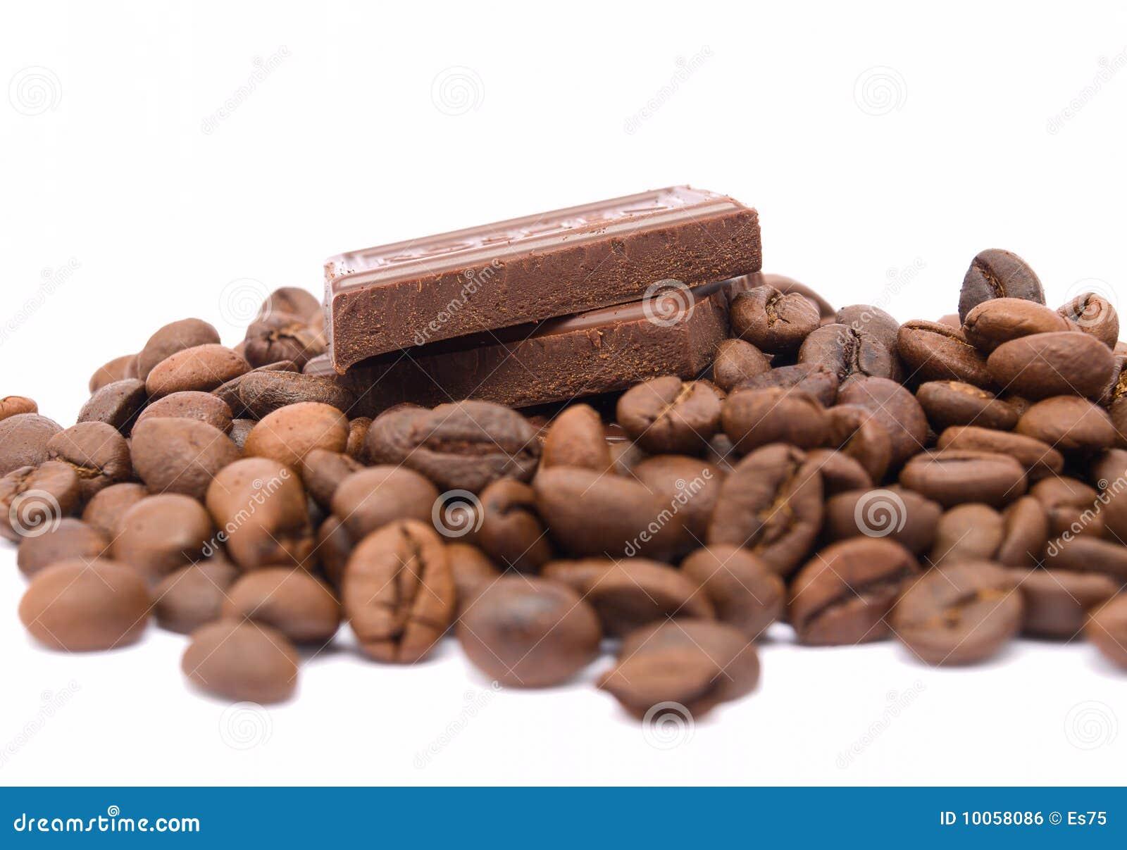 Chocolate com feijões de café