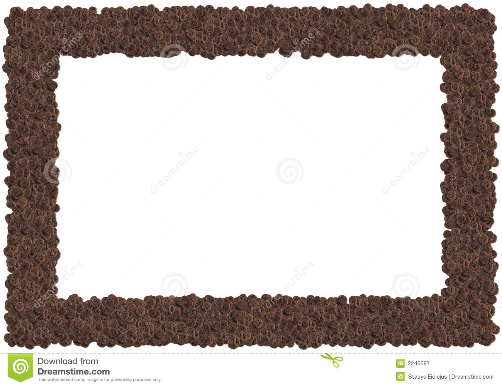 Chocolate Cookies Frame Stock Illustration Illustration