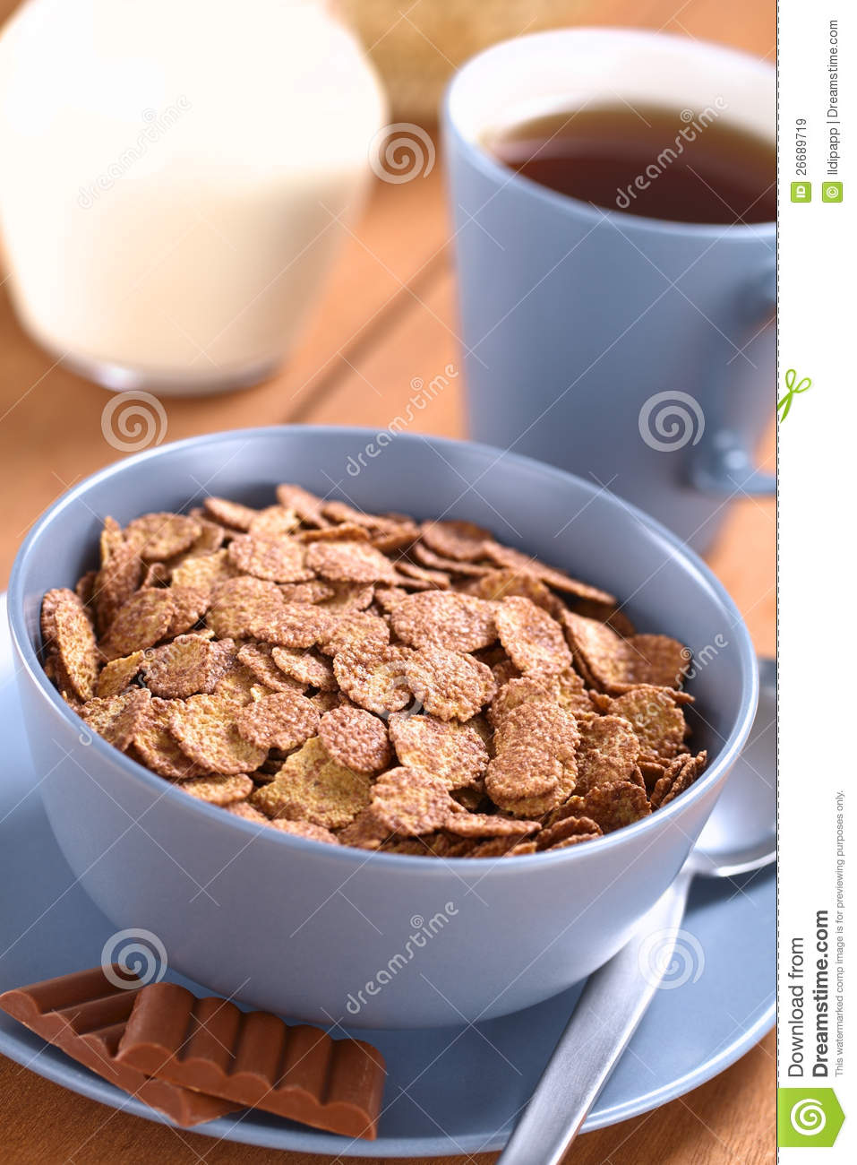 Download Chocolate Corn Flakes Cereal Stock Image - Image of crisp, cocoa: 26689719