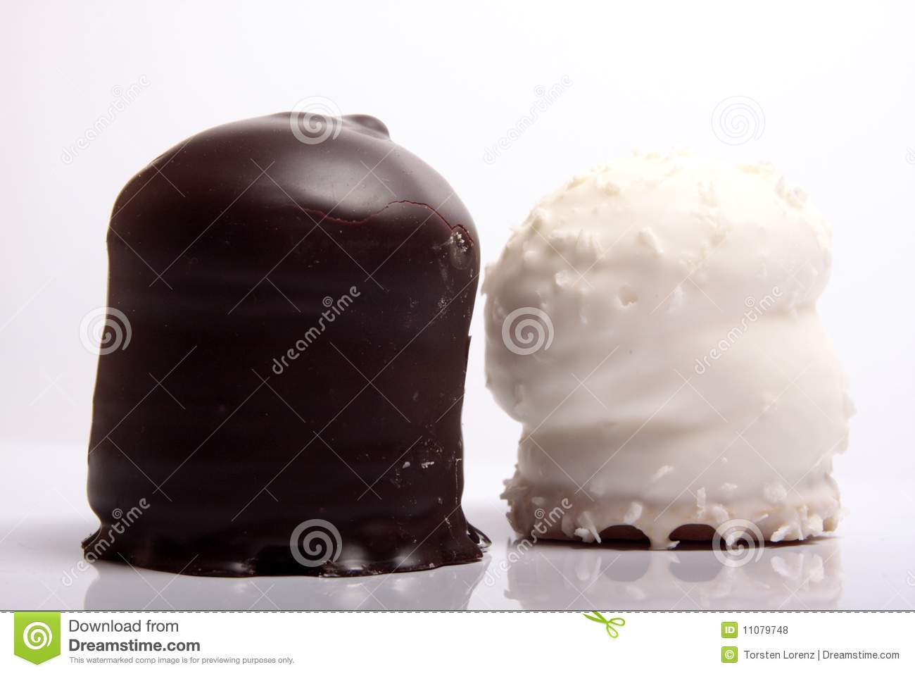Chocolate Covered Meringue Confection Royalty Free Stock Photos ...