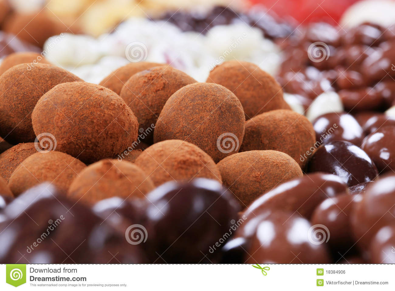 Chocolate Covered Nuts Royalty Free Stock Image - Image: 18384906