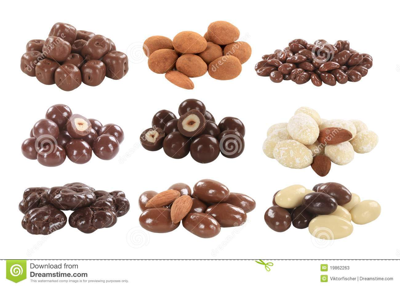 Chocolate Covered Nuts And Fruit Stock Photos - Image: 19862263