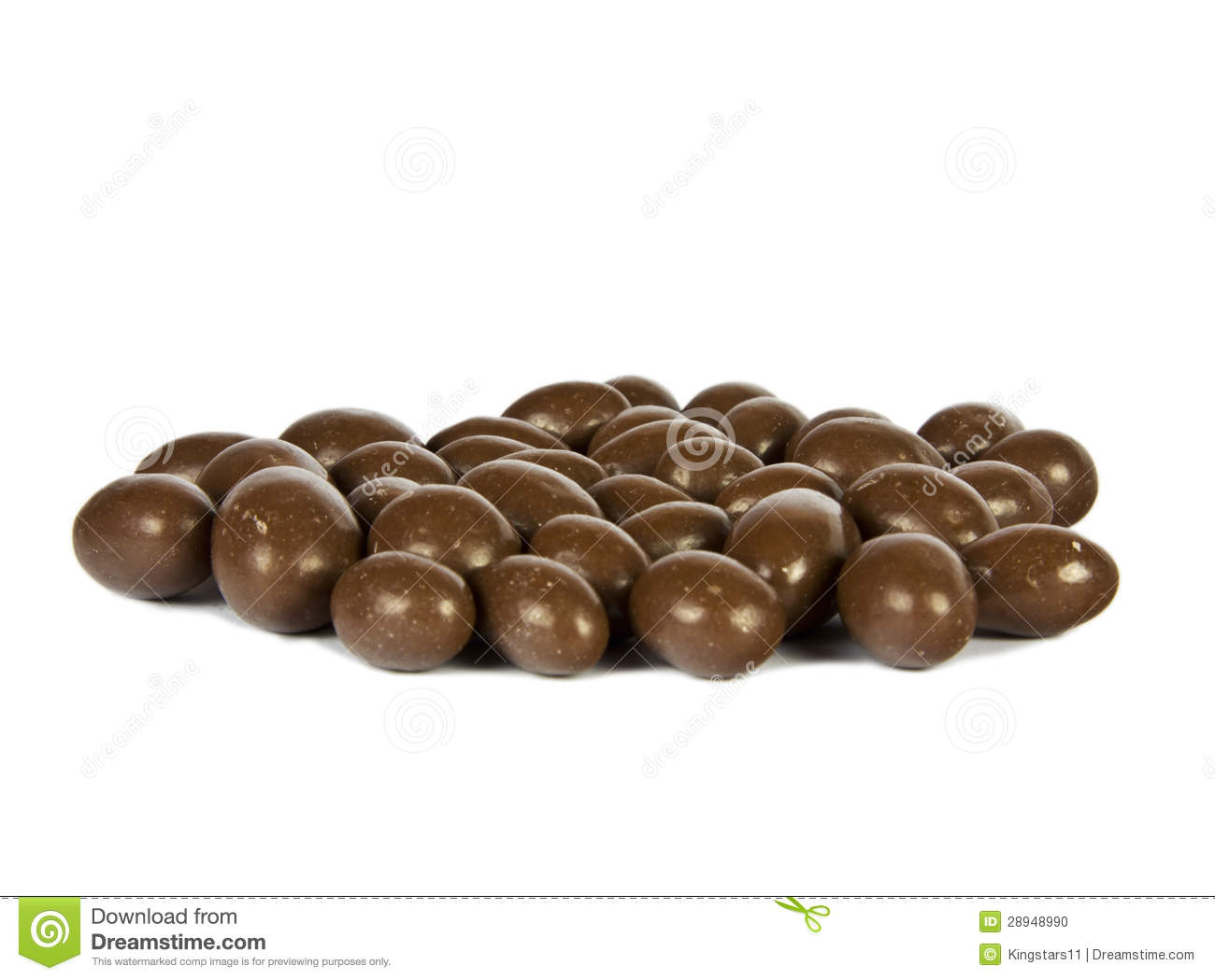 CHOCOLATE-COVERED PEANUTS Stock Photo - Image: 28948990