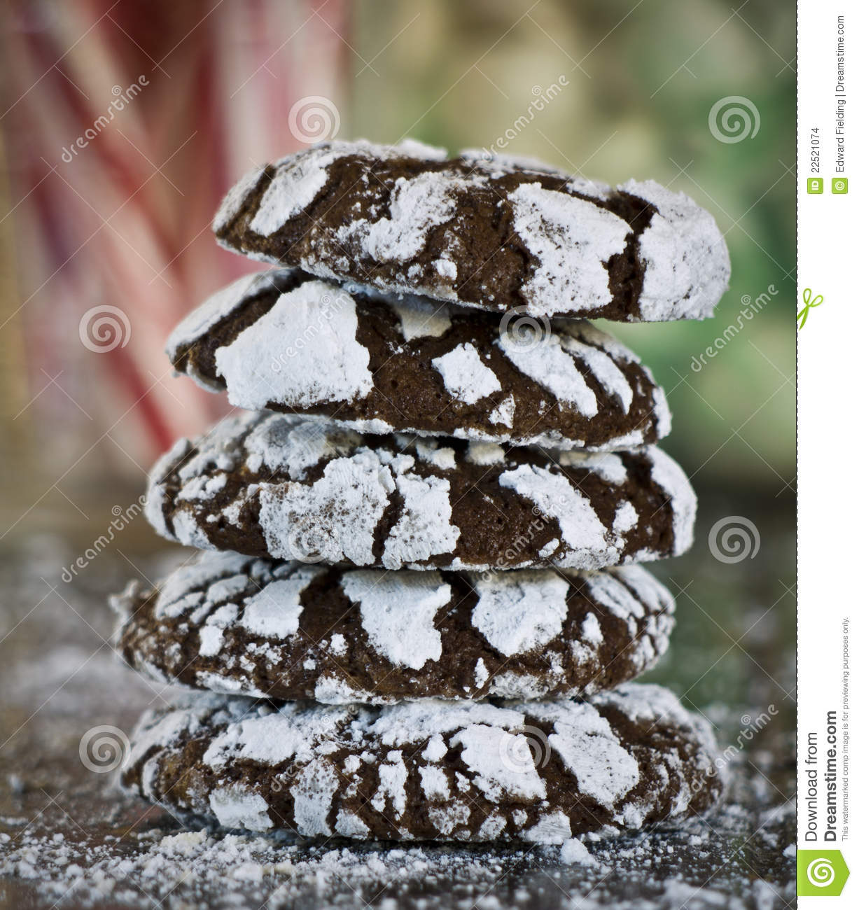 Chocolate Crackle Cookies Stock Images - Image: 22521074