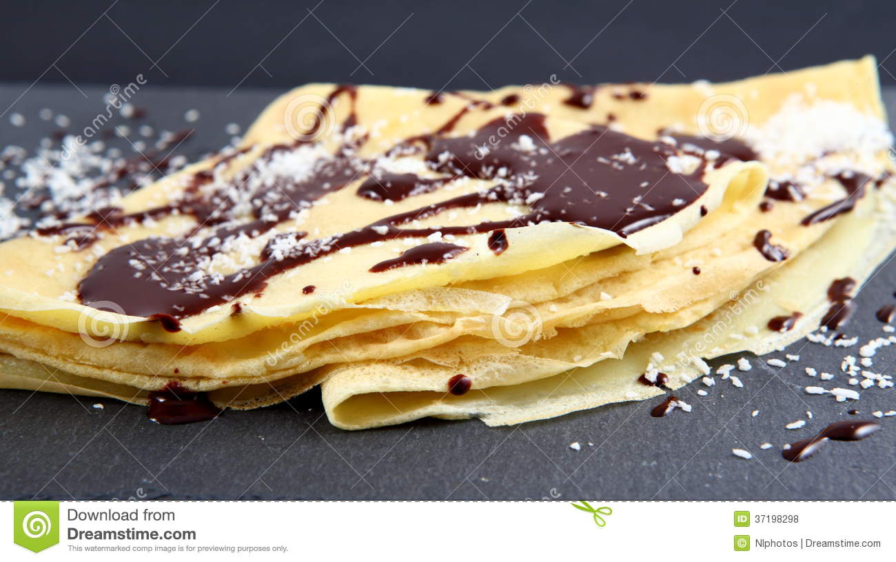 Chocolate Crepe Royalty Free Stock Photos - Image: 37198298